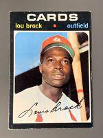 1971 Topps #625 Lou Brock HOF EX-EXMT Scarce St. Louis Cardinals