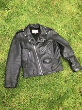 Vintage Wilsons Leather Men's M Black Jacket Motorcycle Biker
