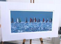 'On the Horizon' Sailing yacht racing 80x50 seascape Painting by Julia Pankhurst