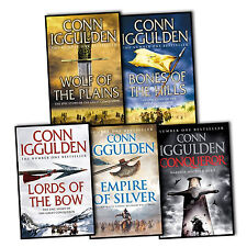 Conn Iggulden Conqueror 5 Books Collection Set - Wolf of the Plains, Lords of ..