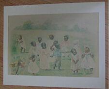 BLACK MEMORABILLIA PRINT- BOYS AND GIRLS PLAYING