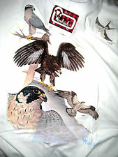 VINTAGE WOOLRICH DEE SMITH COMMISSION 1990 BIRDS OF PREY SHIRT-EAGLE BACK-NEW!-M