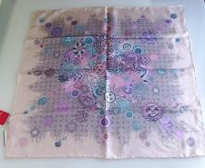 Sale 2017! Christian LACROIX NWT SILK SUN MEDALLION SCARF Pink 26in