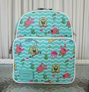 Nickelodeon Loungefly Spongebob Squarepants Jelly Fishing Mini Backpack NWT