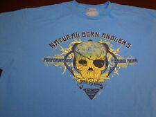 COLUMBIA  Performance Fishing Gear PFG Natural Born Anglers Blue  T-Shirt  XL P3