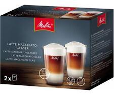 2 X GENUINE MELITTA LATTE MACCHIATO GLASSES COFFEE EACH HOLDS 300ML   6761118