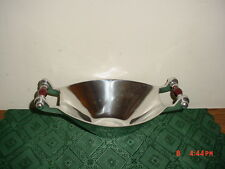 """BILTMORE FOR YOUR HOME """"HANDLED DISH"""" 11 3/4"""" PEWTER-ALLOY/HANDLES/FREE SHIP!"""