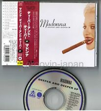 """MADONNA Deeper And Deeper EP JAPAN 12-track 5"""" MAXI CD w/OBI WPCP-5244 Free S&H"""