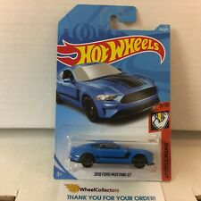 2018 Ford Mustang Gt #216 * Blue * 2018 Hot Wheels J Case International