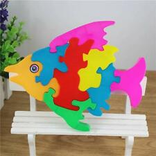 Lovely Fish Blocks Puzzle Baby Boys Girls Cartoon Educational Toy Holiday Gifts