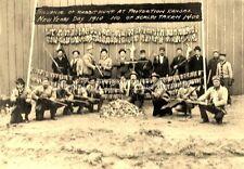 ANTIQUE REPRINT 8 X 10 HUNTING PHOTOGRAPH 1910 KANSAS 1400 RABBIT SCALPS