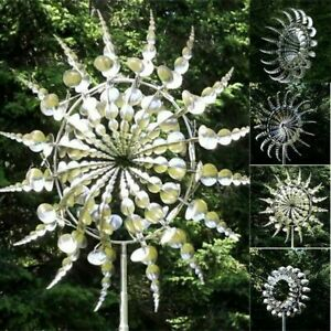 Unique and Magical Metal Windmill - Sculptures Move Kinetic Lawn Wind Spinners