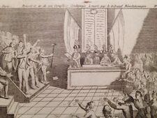 Brissot Tribunal Révolutionnaire 1793 Rare Gravure 18eme Révolution de Paris