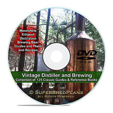 Still Plans Guides, How to Make Alcohol, Beer Whiskey, Moonshine Ethanol CD V20