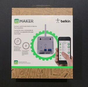 Wemo Maker Wifi Switch Relay Robotics Projects Smart Home IFTTT Brand New