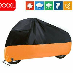 US Motorcycle Cover Waterproof For Harley Davidson Outdoor Rain Dust UV XXXLarge