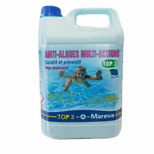 MAREVA Antialghe Top 3 Tanica 5 lt Anti-Alghe Multiazione per Piscina NO SCHIUMA