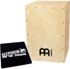 Meinl MYO-CAJ Cajon Bausatz Natur zum Selber bauen + keepdrum Sitzpad CP-01