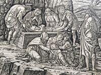 Entombment (vertical) Print by Andrea Mantegna Renaissance Engraving
