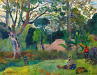 The Big Tree Paul Gauguin Fine Art Print on Canvas Giclee Repro Painting Small