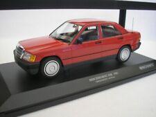Mercedes-benz 190e (w201) Année 1982 Rouge 1 18 Minichamps