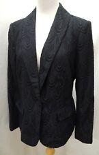 Lilly Pulitzer Black Lace Lined Blazer Jacket Size 6