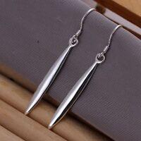 ASAMO Damen Ohrhänger Zapfen Ohrringe 925 Sterling Silber plattiert O1106