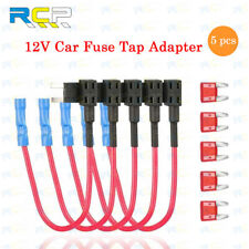 5 Pack 12V 10A Car Add-a-circuit Fuse TAP Adapter Kit, Mini ATM APM Blade Fuse