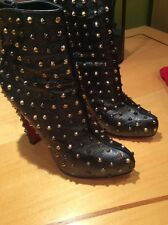 Christian Louboutin Studded Bootie/ Boots Size 39 Worn Ones