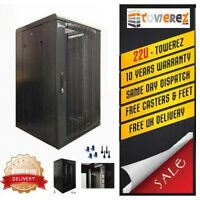 Server Rack 22U data cabinet  - 600x800 deep Perforated Door