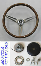 1965-1969 Mustang Grant Real Wood Steering Wheel Walnut Mustang Center 15""