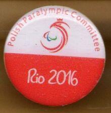 RIO 2016. PARALYMPIC GAMES.PARALYMPIC NOC PIN. POLAND