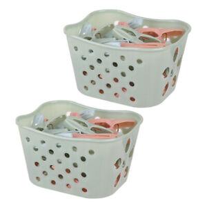 60pcs Plastic Laundry Clothespins Clothes Pegs Towel Clips w/ Storage Basket