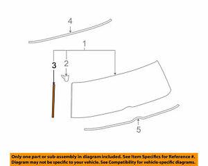Toyota OEM 2008-2015 Scion  xB Liftgate Tailgate Side Molding 75573-12370