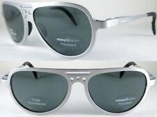 Vintage & rare Momo Design unisex piloto Sunglasses, 100% alminium en Silver/Blue'