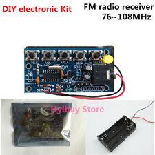 DIY electronic Kit - 5 keys stereo wireless FM radio receiver kit PCB 76~108MHz