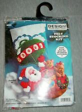 Design Works Crafts Felt Stocking Kit 5030 Santa Hot Air Balloon 16