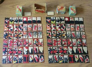 "VINTAGE Nintendo ""Hanafuda Daitouryo"" Set of 2, Red & Black 1950s Japanese Cards"
