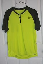 Fox Cycling Jersey S Fluorescent Green Gray Short Sleeve Bicycle Bike Polyester