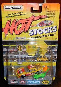 Matchbox Chaud Stocks Pitstop Set de Jeux Champion #3 Misb Neuf Miniature