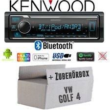 Kenwood Autoradio für VW Golf 4 IV Bluetooth MP3 USB iPhone Android Spotify Set