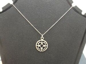 Sterling silver necklace St Magnus Cross pendant and chain by Ola Gorie Scottish