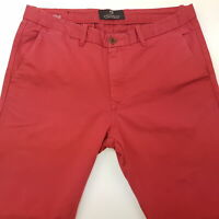Scotch & Soda BOWIE Mens Trousers Chino Pants Jeans W31 L32 Red Slim Straight