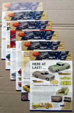 6x Trax 1/43 diecast model 2004 complete set mint catalogues Ford Holden Valiant