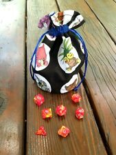 RPG Dice Bag, Pokemon - Dungeons and Dragons, Tabletop Games, DnD, Pathfinder