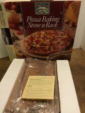 "Italian Villa Pizza Baking Stone & Rack 12.5"" Stoneware"