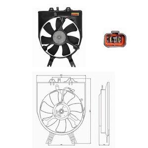 A/C Condenser Fan Assembly Cooling AC Fits: 2005 - 2010 Honda Odyssey V6 3.5L