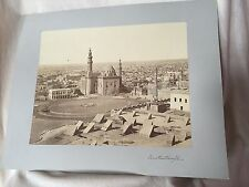 Constantinople/Instanbul Turkey-BIRDSEYE VIEW OF MOSQUE & CITY-Large Photograph