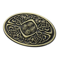 Zinc Alloy Germanic Celtic Pattern Belt Buckle Western Cowboy Bronze Buckle