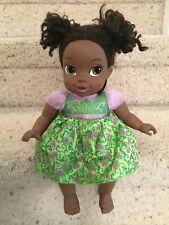 Disney Jakks Pacific My First Princess Frog Baby Doll Tiana Purple Green Dress